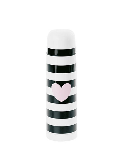 MISS ÉTOILE  Thermoskanne 0,5 l heart rose black stripe
