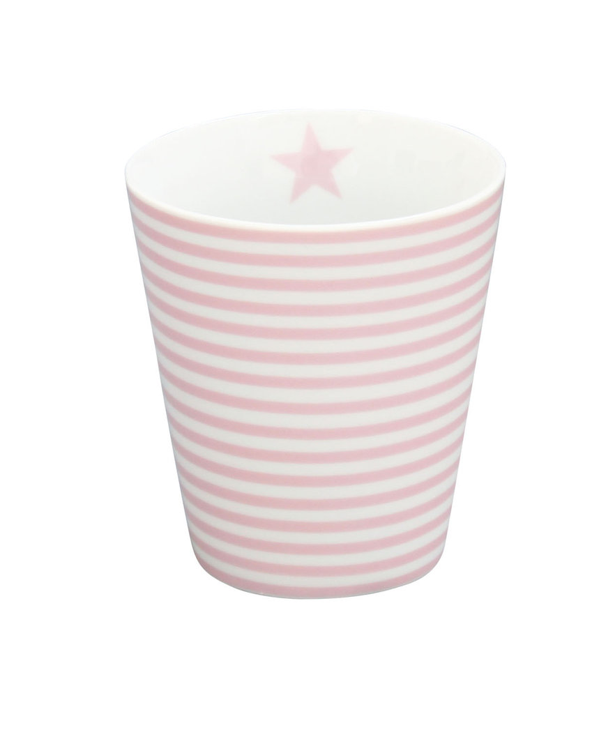 krasilnikoff happy tasse becher pink thin stripes