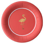 DELIGHT DEPARTMENT Pappteller Preppy Flamingo 10Stk.