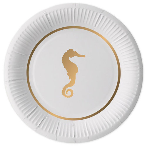 DELIGHT DEPARTMENT Pappteller Preppy Seahorse 10Stk.