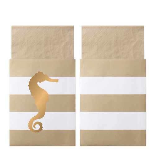 DELIGHT DEPARTMENT Servietten in Tasche Preppy Seahorse