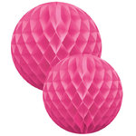 DELIGHT DEPARTMENT Wabenball Set pink Serie white/gold