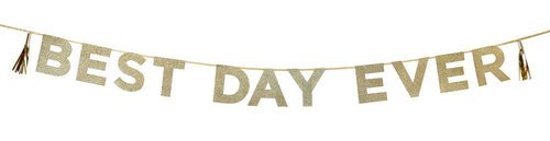 "TALKING TABLES Banner""Best Day Ever"" Say It With Glitter"