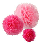 TALKING TABLES Pom Pom Set pink 3 Stk. Decadent Decs