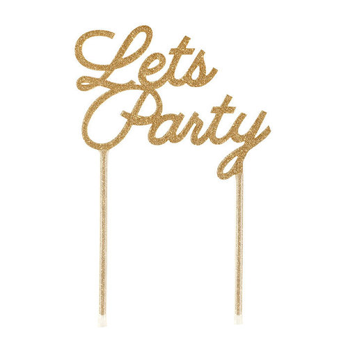 "TALKING TABLES Cake Topper ""Lets Party"""