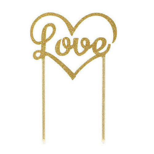"TALKING TABLES Cake Topper ""Love"" gold"