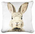 BASTION COLLECTIONS  Kissen 60x60 cm Roger Rabbit weiß