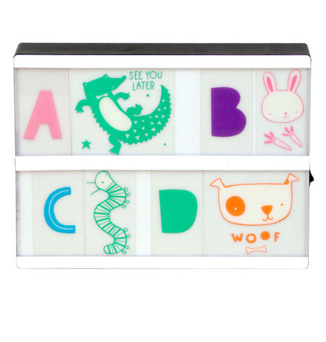 A LITTLE LOVELY COMPANY Lightbox Letter Set: ABC Pastel
