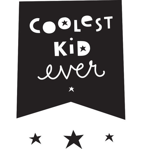 A LITTLE LOVELY COMPANY Wandsticker Coolest Kid ever