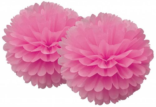 DELIGHT DEPARTMENT Pom Pom Set pink Serie weiß/gold