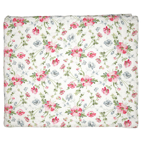 GREENGATE Quilt Meadow white 140x220cm