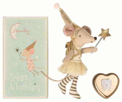 MAILEG Zahnfee, Tooth Fairy Big sister mouse mit Zahndose