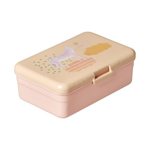 RICE Lunchbox / Brotdose Animal groß soft pink