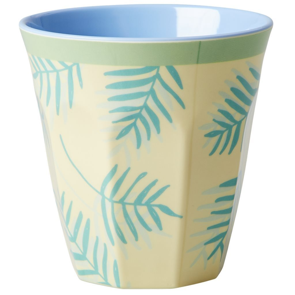 RICE Melamin Cup / Becher Palm Leaves  medium