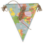 "REX LONDON Papierwimpelkette ""Vintage world map"""