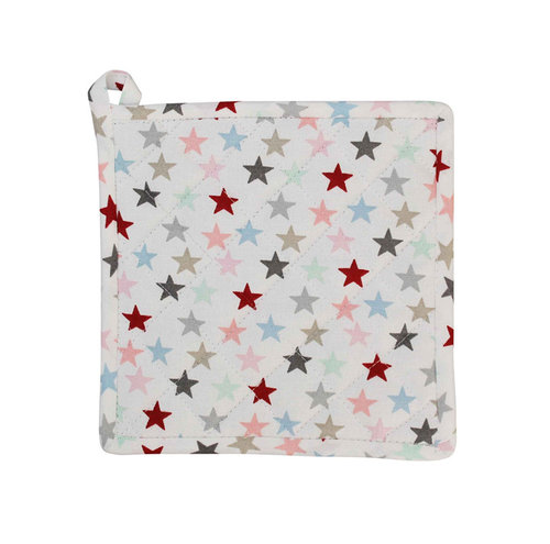 KRASILNIKOFF Topflappen small star multi white