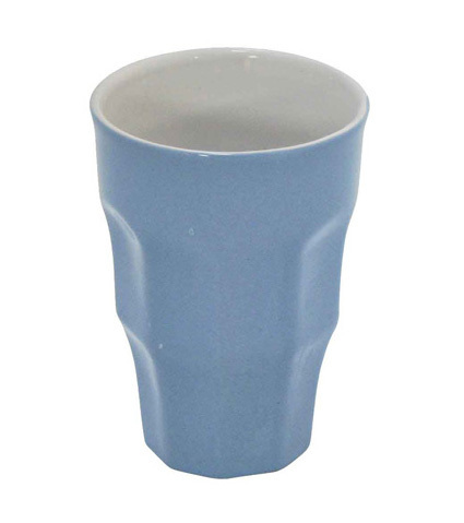 KRASILNIKOFF Retro Becher Latte big blue