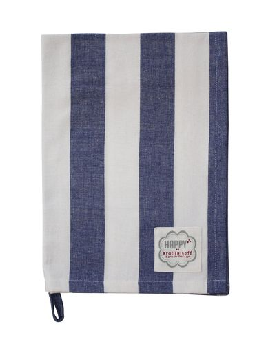 KRASILNIKOFF Geschirrtuch dark blue, mega stripes