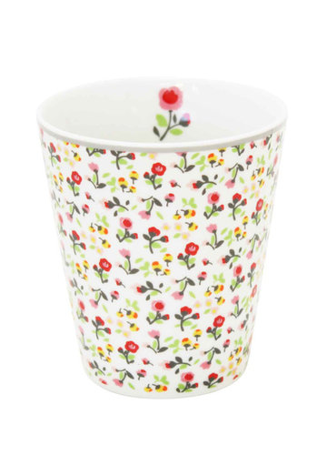 KRASILNIKOFF Happy Becher white mille fleurs