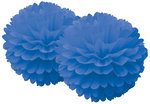 DELIGHT DEPARTMENT Pom Pom Set blau Serie weiß/silber