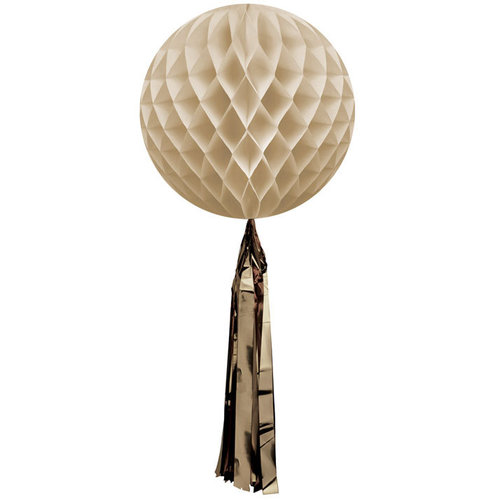 DELIGHT DEPARTMENT Wabenball beige mit Quaste Preppy Paddle