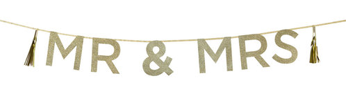 TALKING TABLES Banner Mr & Mrs Say It With Glitter