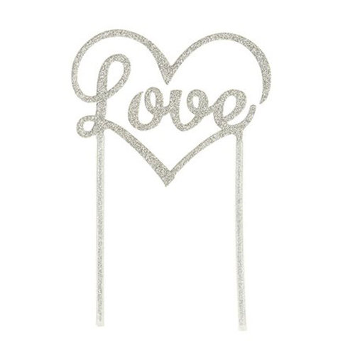 "TALKING TABLES Cake Topper ""Love"" silber"
