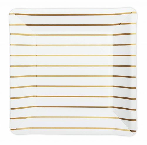 DELIGHT DEPARTMENT Pappteller gold/stripes 8 Stk.