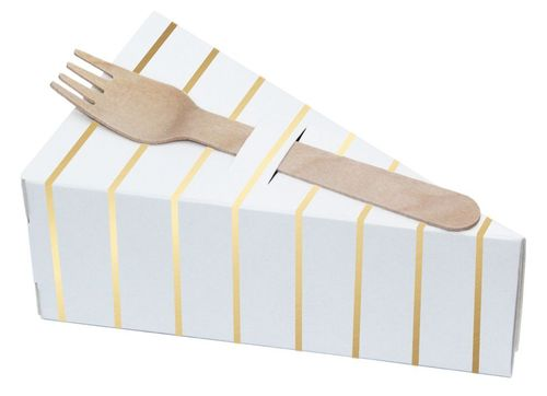 DELIGHT DEPARTMENT Kuchenbox gold/stripes