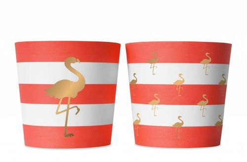 DELIGHT DEPARTMENT Snackbecher Preppy Flamingo 6 Stk.