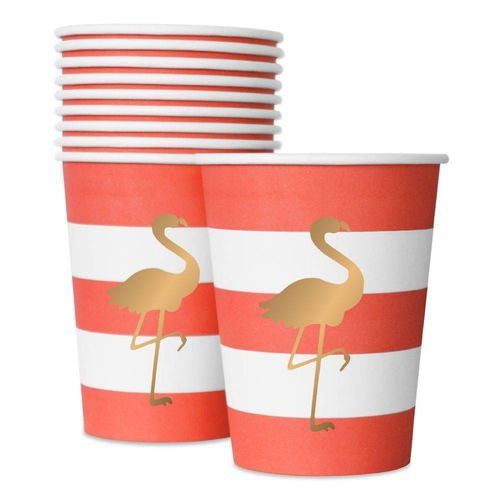 DELIGHT DEPARTMENT Pappbecher Preppy Flamingo