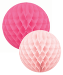 DELIGHT DEPARTMENT Wabenball Set pink / rosa Mix