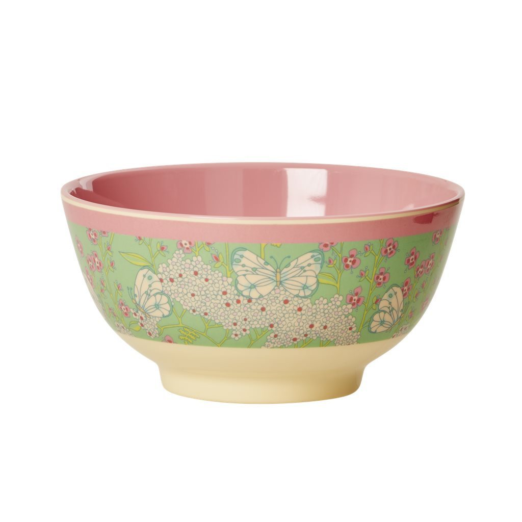 RICE Melamin Bowl / Schale Butterfly and Flower medium