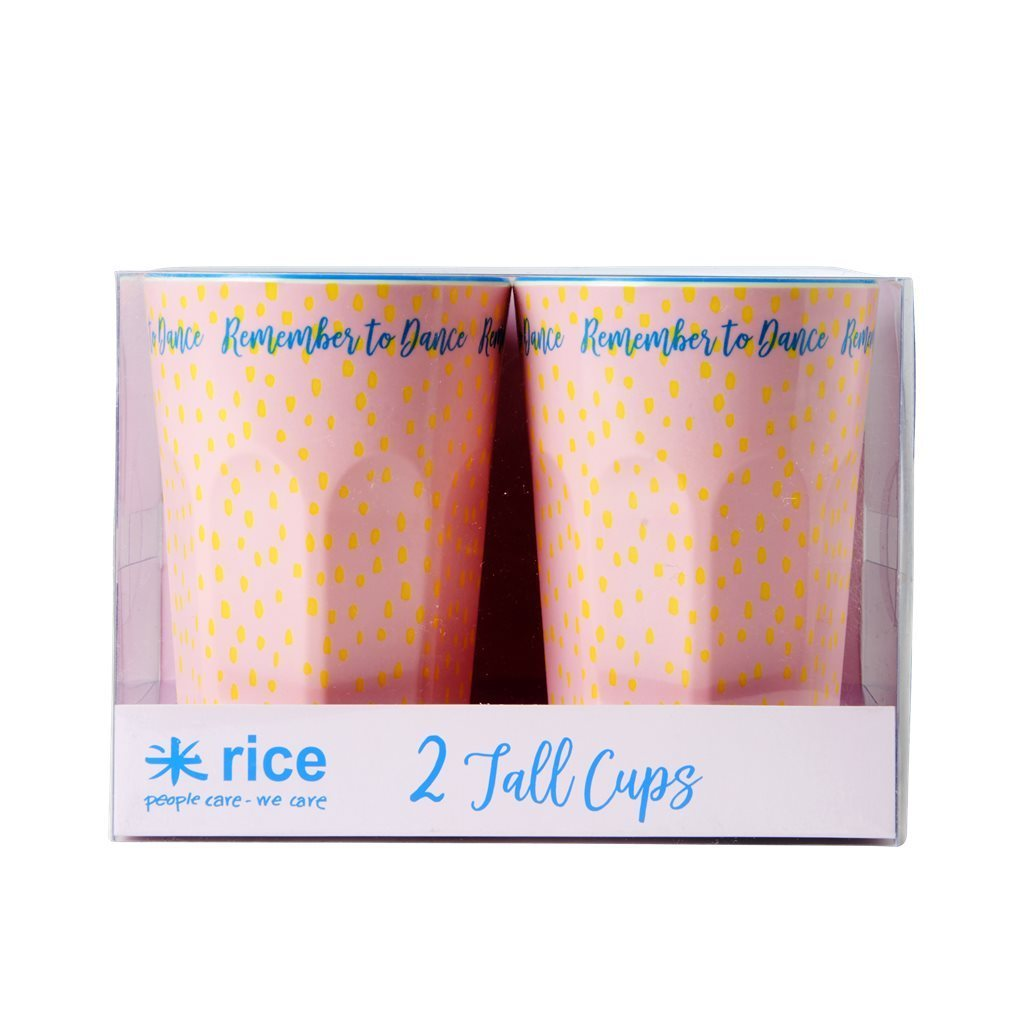RICE Melamin Cup / Becher Set  Big Raindot  hoch - 2 Stk.
