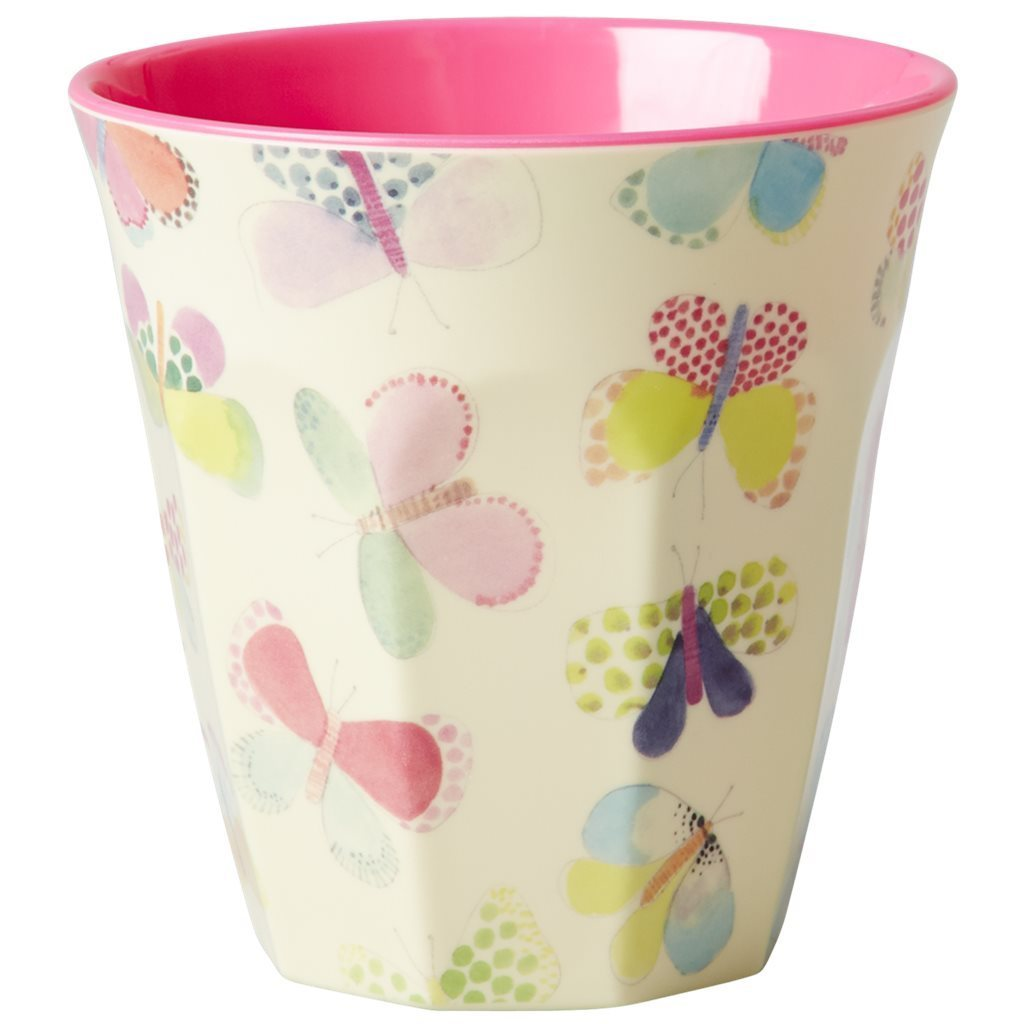 RICE Melamin Cup / Becher Butterfly  medium
