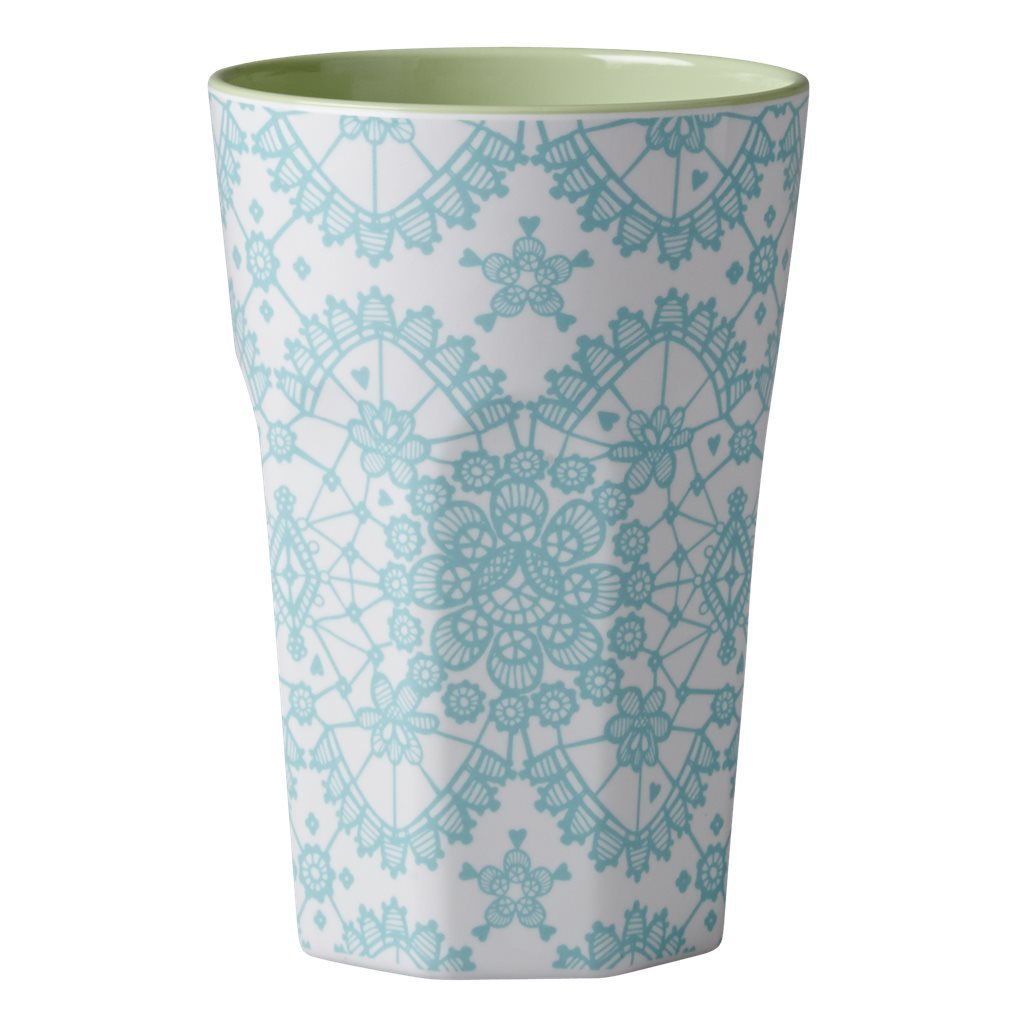 RICE Melamin Cup / Becher Lace mint hoch