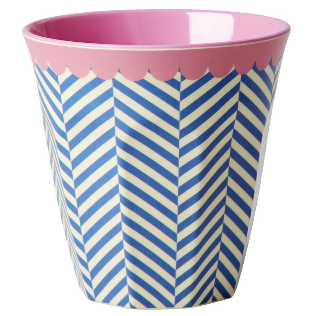 RICE Melamin Cup / Becher Sailor Stripe medium