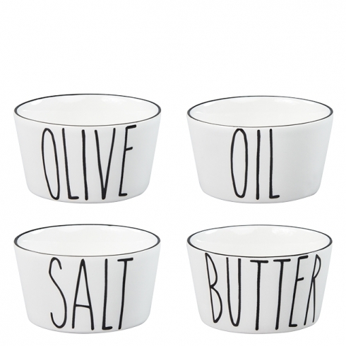 BASTION COLLECTIONS Schalenset Salt/butter/oil/olive (4 Stk.)