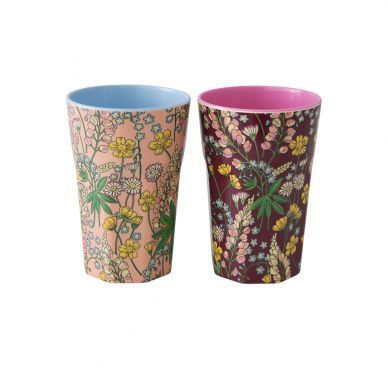 RICE Melamin Cup / Becher Set Lupin hoch - 2 Stk. / Unicef