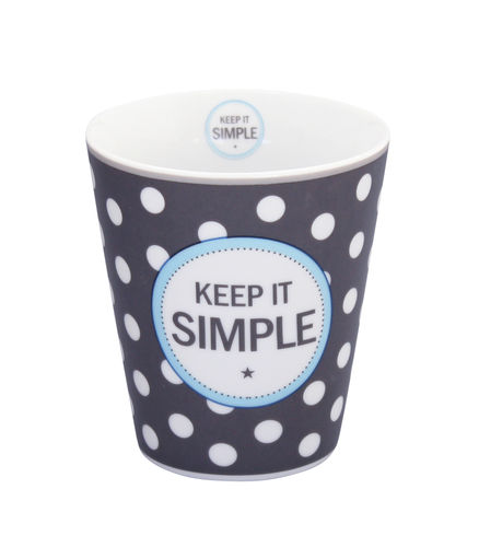 KRASILNIKOFF Happy Tasse/ Becher Keep it simple