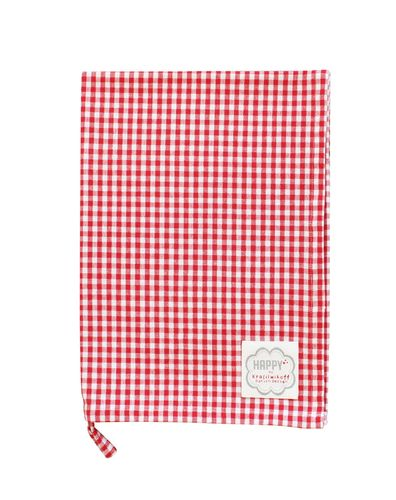 KRASILNIKOFF Geschirrtuch red medium checkered