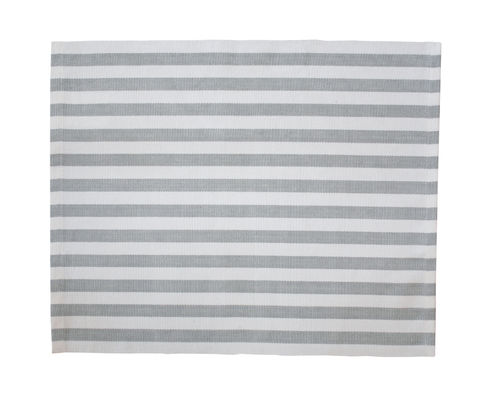 KRASILNIKOFF Platzset grey stripes, grau gestreift