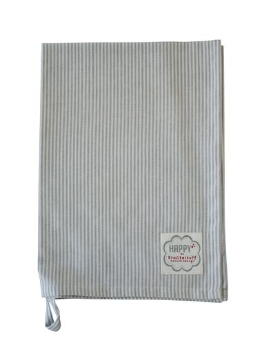 KRASILNIKOFF Geschirrtuch grey small stripes