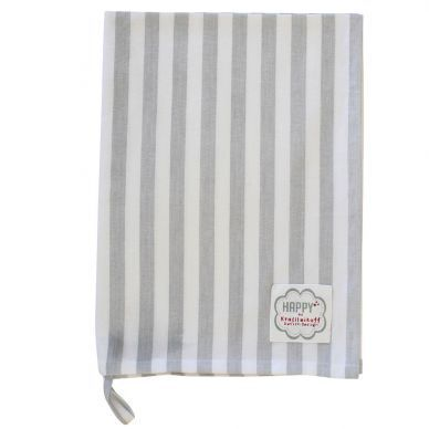 KRASILNIKOFF Geschirrtuch grey big stripes