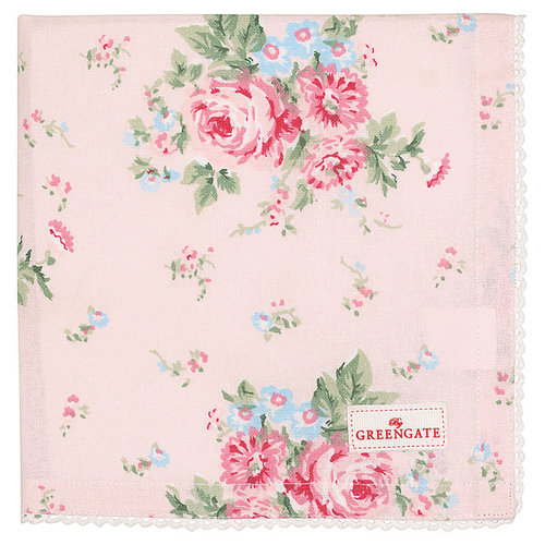 GREENGATE  Serviette Marley pale pink mit Stickerei