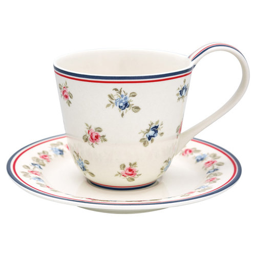 GREENGATE  Tasse & Untersetzer Cup Hailey white