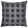 GATE NOIR by GREENGATE  Kissenhülle Geometric dark grey w/gold 50x50cm