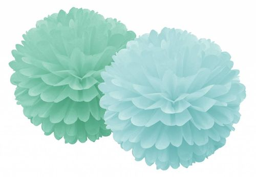 DELIGHT DEPARTMENT Pom Pom Set mint 2 farbig