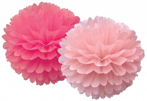 DELIGHT DEPARTMENT Pom Pom Set pink 2 farbig