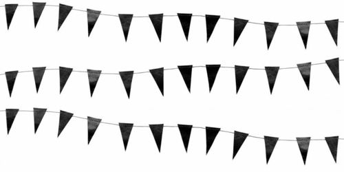 DELIGHT DEPARTMENT Girlande Mini flag kleine schwarze Flaggen
